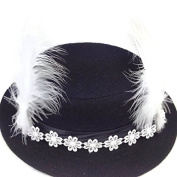 Retro Fascinator Lace Feather headband Clips : SP9