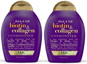 Organix Thick and Full Biotin and Collagen, DUO Set Shampoo + Conditioner, 380ml, 1 Each by OGX
