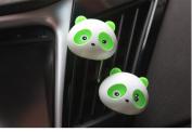 Dealglad® 2pcs Cute Panda Car Auto Vent Outlet Air Freshener Perfume Fragrance Flavour Diffuser Air Cleaner