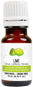 Lime Essential Oil 10 ml (0.33 fl. Oz.) - GCMS Tested, 100% Pure, Undiluted and Therapeutic Grade