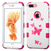 MyBat Cell Phone Case for Apple IPhone 7 Plus - Butterfly Dancing/Hot Pink