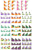 KADS Nail Design Nail Art Stickers Decals Water Transfer Favourite Patterns Flowers Butterfly Lace - 1 Pack 11 design