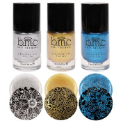 BMC Metallic Shimmer Creative Nail Art Stamping Polish - Liberty Lane Collection