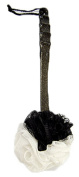 Huachnet Mesh Exfoliating Bath Sponge Shower Pouffe Loofah with Long Handle