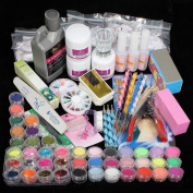 Vip Beauty Shop New Professional 42pc Acrylic Powder Nail Art Tips Starter Kit