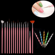 Towallmark(TM) 20PCS Nail Art Design Dotting Painting Drawing Polish Brush Pen Tools
