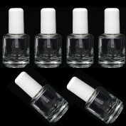 Pro Nail Clear Empty Polish Bottles + Brush + Mixing Ball 14ml/0.5 Oz
