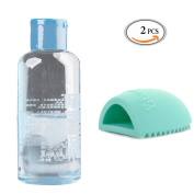 OR Pure Makeup Brush Cleansing Shampoo Detergent Cleaning Makeup Tool Cleanser Beauty Cosmetic Brush Tool Cleaning Agent with a Brush Egg for Markup Puff and Sponge