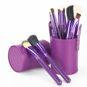 Professional Core Makeup Brush 12 pcs Set Cosmetic Brush Kit Makeup Tool with Cup Leather Holder Case