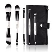 Docolor 5Pcs Makeup Brushes Set Foundation Eyeshadow Kits with Cases