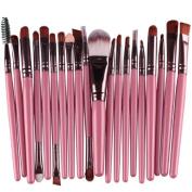Tonsee 20 pcs Makeup Brush Set tools Make-up Toiletry Kit Wool Make Up Brush Set