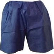 Therapist's Choice® Disposable, Universal Size Shorts, Dark Blue