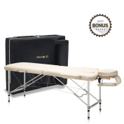 Dr.lomilomi Ultra-lite Aluminium Portable Massage Table 302 Spa Bed with Carry Case and Cover Sheet Set