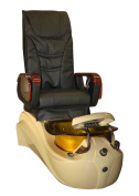 Mimosa MagnaJet Pipless Pedicure Spa Massage Chair with Free Stool (Black)