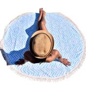 Hatop Round Hippie Tapestry Beach Throw Roundie Mandala Towel Yoga Mat Bohemian Featur