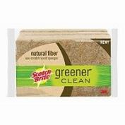 Scotch-Brite Greener Clean Natural Fibre Scrub Sponge, 3 ea - 2pc