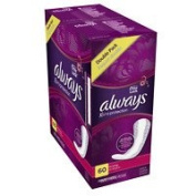 Always Xtra Protection Daily Liners Plus Odour-Lock Pads, Double Pack, Extra Long, 60 ea, 60 ea - 2pc