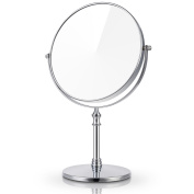 Miusco 7X Magnifying Two Sided Vanity Makeup Mirror, Round, Chrome