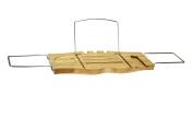EWEI'S HomeWares Bamboo Bathtub Caddy, Bamboo Shower Bath Tub Tray Organiser