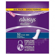 Always Dailies Large Panty Liners Big Pack 52 per pack