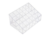 Clear Transparent Cosmetic Makeup Organiser Beauty Care Holder with 24 Square for Nail Enamel/ Lipstick/Moisturisers/ Brushes/Bottles ...