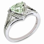 Best Designer Jewellery Sterling Silver Diamond & Green Quartz Ring