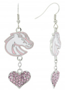 Special Edition Boise State Broncos Love Pink Collection Dangle Earrings