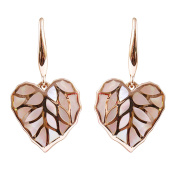 9K Rose Gold with Pink Mother of Pearl Beautiful Earrings