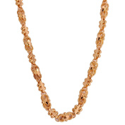 Etched Gold Link Chain in 22k Yellow Gold 9 inch long 24 cm