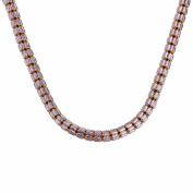 22k Yellow Gold Cluster Capsule Link Chain in Rope Design 18cm Long