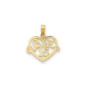 Yellow-gold 14K Sweet 38cm Heart Pendant