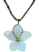 """""""African Violet"""" Pearl Statement Necklace by Michael Michaud for Silver Seasons"""