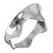 Curving Wave 925 Sterling Silver Band Ring