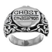 Ghost Ghosting Champion Scroll 925 Sterling Silver Band Ring