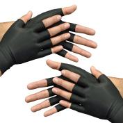 Medipaq Anti-Arthritis Health Therapy Gloves 2X Pairs Medium Black