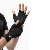 Copper Compression Arthritis Gloves. GUARANTEED Highest Copper Content! Best Copper Infused Fit Gloves For Carpal Tunnel, Computer Typing, And Everyday Support For Hands.