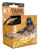 KT TAPE Pro Extreme Therapeutic Elastic Kinesiology Tape (20 Pre-Cut), 25cm , Black