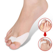 One Pair Silicone Footful Foot Pain Relief Hallux Valgus Big Toe Gel Toe Separators Stretchers Bunion Splint Spacer Alignment Straightener Corrector Stretchers Hammer Toes and Tailor's Bunion Aid Treatment Splint Bunion Corrector Orthosis