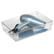 mDesign Cosmetic Organiser Tray for Vanity Cabinet to Hold Makeup, Beauty Products - Large, Clear