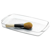 mDesign Cosmetic Organiser Tray for Vanity Cabinet to Hold Makeup, Beauty Products, Guest Towels - Clear