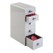 mDesign Cosmetic Organiser for Vanity Cabinet to Hold Makeup, Beauty Products - 5 Drawers, Light Grey