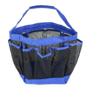 Woworld Quick Dry Shower Tote with 8 Storage Compartments Bath Organiser Portable Hanging Mesh Shower Caddy