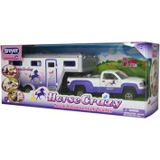 Gooseneck Trailer and Horse Crazy Truck Stablemates with 3 Toy Horses