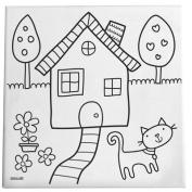 Kitty Cat DIY Canvas Art For Kids