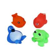 NiGHT LiONS TECH 4 pcs baby Bath Toys ocean penguin goldfish whale frog