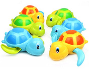 6 Pack Swimming Turtles Floating Wind-Up Bath Water Toy Party Favours