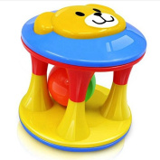 Lanlan Cute Colourful Attractive Baby Bell Ball Toy Jingle Ring Ball Infant Rattle Hand Shaker Toy Bear