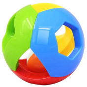 Lanlan Colourful Bell Ball Toy Jingle Ring Ball Infant Rattle Hand Shaker Kid Toy