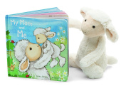 Jellycat My Mom and Me Board Book and Bashful Lamb, Medium - 30cm