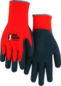 Majestic 3396H0 (Large) Hi Vis Orange Polar Penguin Winter Terry Lined Knit Gloves Foam Latex Dipped Palm For Great Grip and Dexterity. Tough and Durable, Great for Cold Weather! Excellent Wear and Resistance, Super Fit